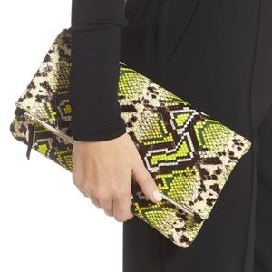 NWT Clare V. foldover leather clutch